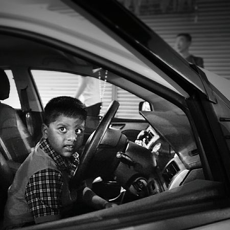 Young driver ASIA B&W Portrait