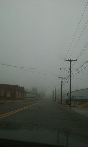 Fog Electricity  Transportation No People Cable Electricity Pylon Telephone Line Outdoors Nature Telephone Pole Sky Day