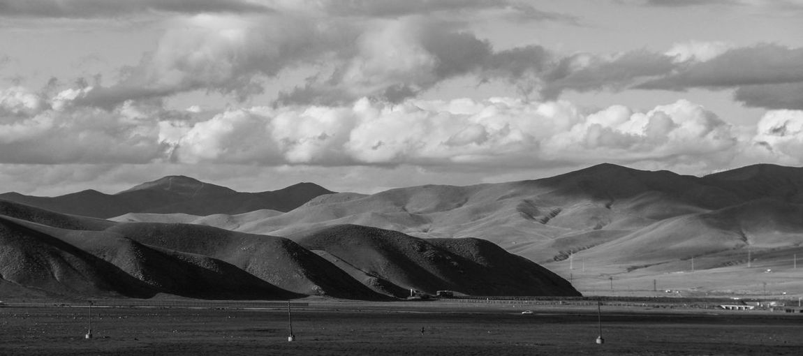 mongolian steppe Hills Landscape_Collection Mongolia Beauty In Nature Blackandwhite Cloud - Sky Countryside Day Hill Landscape Mongolian Monochrome Mountain Mountain Range Nature No People Outdoors Scenery Scenics Sky Steppe Train Tranquil Scene Tranquility Water