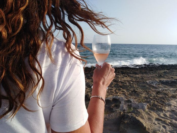 EyeEm Selects The Traveler - 2018 EyeEm Awards Water Happy Hour Wineglass Party - Social Event Sea Alcohol Drink Women Beach Wine EyeEmNewHere