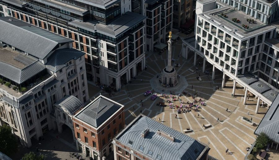 Architecture Building Exterior Built Structure High Angle View City Travel Destinations Outdoors Aerial View Large Group Of People Day Cityscape People London United Kingdom Postcode Postcards