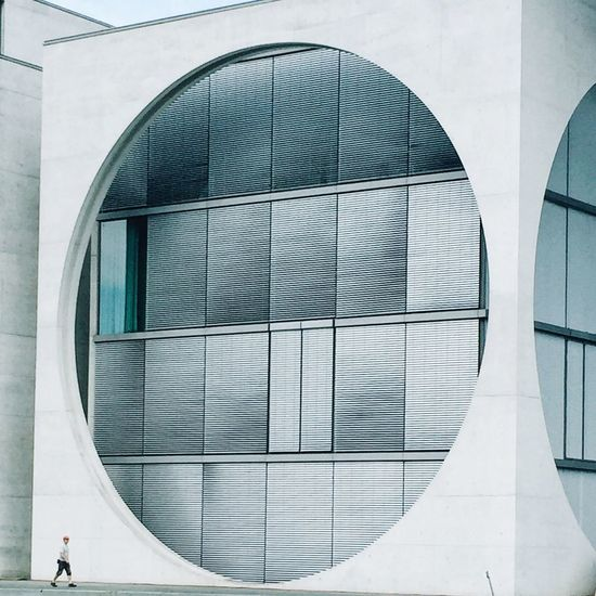 A Bird's Eye View // that circle again in Berlin // IPhoneography Iphoneonly Architecture Built Structure Building Exterior Window Glass - Material Geometric Shape Day Person Arch Outdoors Modern The Architect - 2017 EyeEm Awards