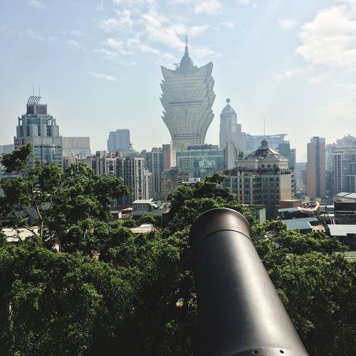Macao  Travel Photography Cannon Grandlisboamacau Architecture Built Structure Building Exterior Tall - High Skyscraper City Tower Cityscape Sky Day