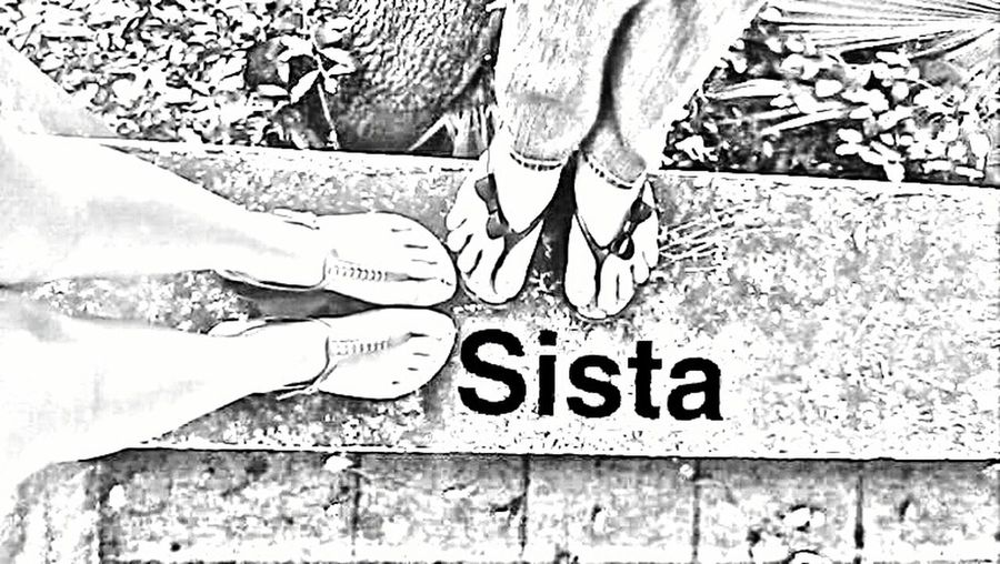 Fun picture of my two daughters feet Text Real People Close-up Day Daughters SisterLovee ♥
