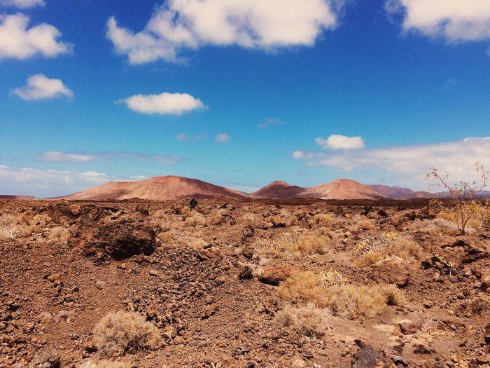 Surface Level Of Desert In Timanfaya National Park