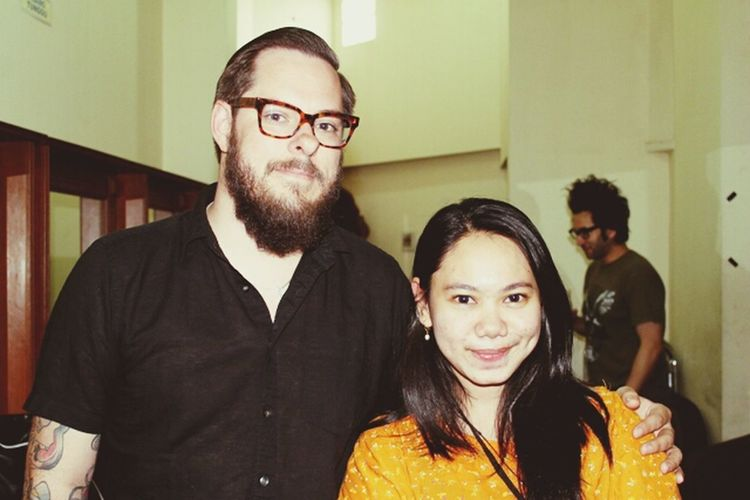 with jesse from motion city soundtrack. he is the one of my fav synth player :) Motion City Soundtrack Punk Rock