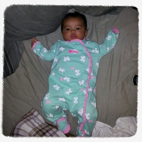 My Cutie Pie Niece Baby Alize Hogging My Bed Again! Datz Alright She Can Sleep On My Bed Anytime She Like!!