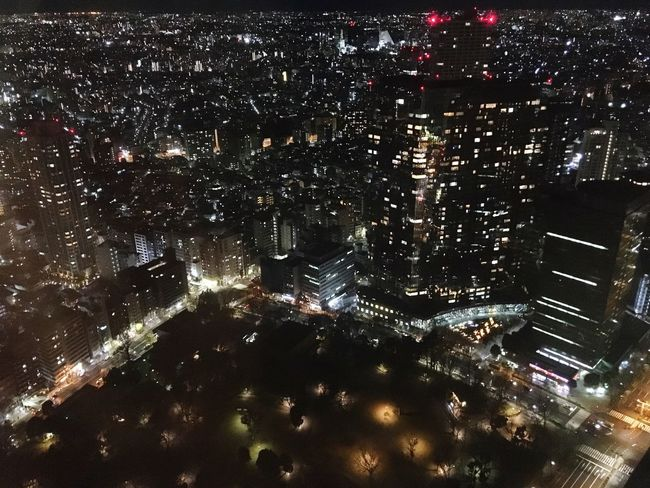 The Night View Winter Nightphotography Tokyo City Life Night City Illuminated Cityscape Architecture Building Exterior Modern Skyscraper Aerial View