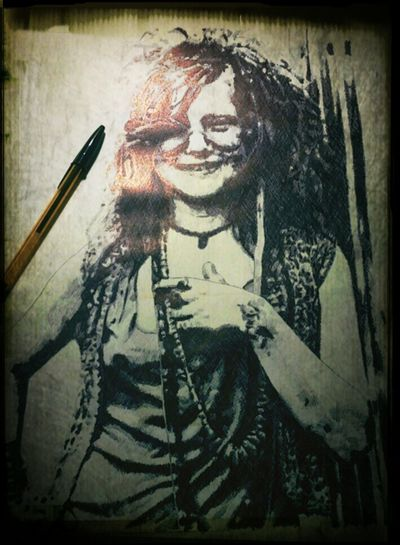 Art Drawing ArtWork My Art My Artwork Janis Joplin