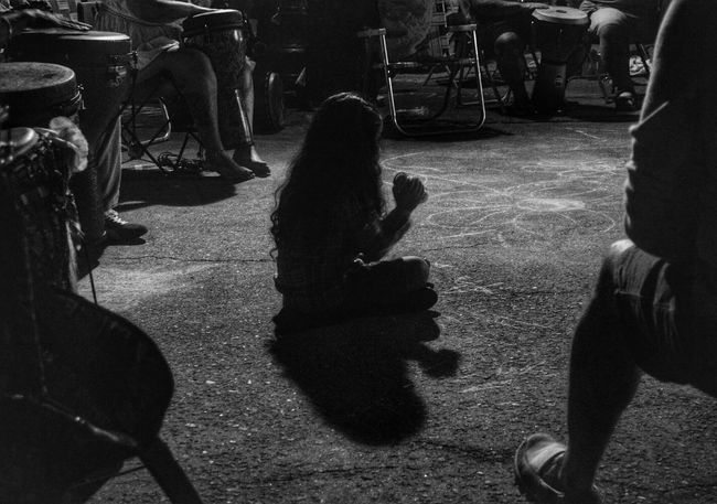 Blackandwhite Monochrome Shadows & Lights Girl Shades Of Grey Drum Circle Fort Myers Florida Capture The Moment I Love My City B&w Street Photography