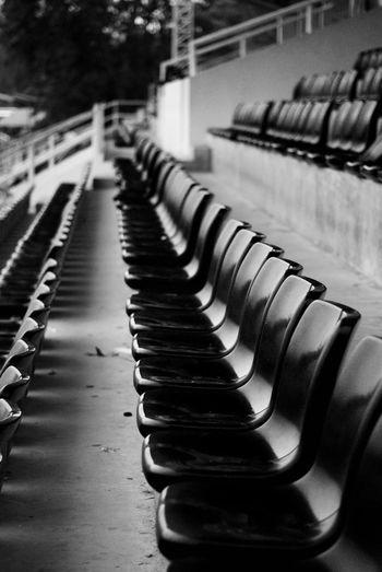 Empty seats arrangement at stadium