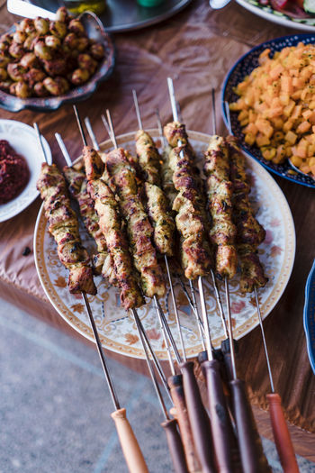 Kebabs in Morocco Morocco Agadir Africa Authentic Moments Travel Kebab Meeting Chicken Food Cuisine
