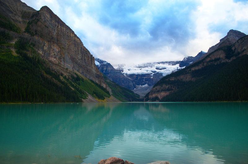 Banff National Park  Big Beehive Hikes Lake Lake Louise,Alberta Lake Mirror Mountains Outdoors Stones & Water
