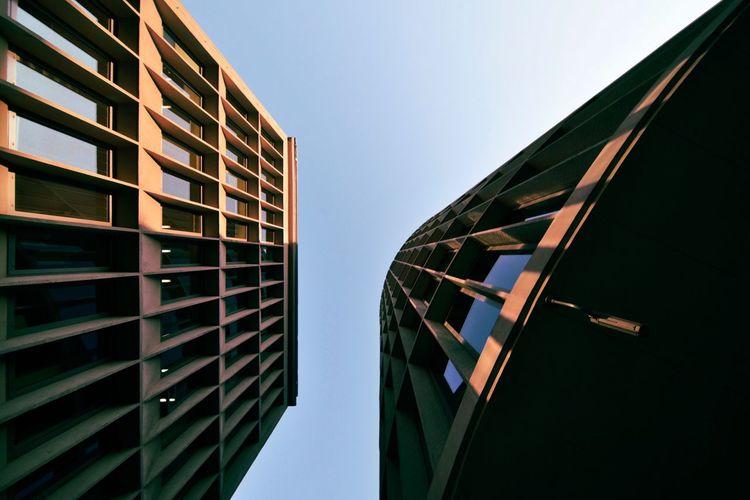 Architecture Modernism Concrete Urban Geometry Sunset Lookingup
