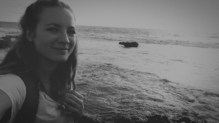 Bali Beach at sunset . Trip Peacefulview Love Life ❤ Taking Photos Beach Photography Selfie Sunset