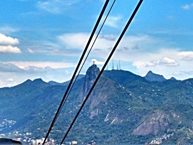 Rio De Janeiro Cable Car Amazing View Sky And Clouds