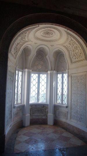 Inside Castle Window Window Frame Day Sintra, Portugal Beautiful