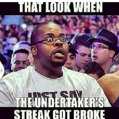Mannn if you a true wrestling fan and you watched wrestlemania tonight...sadly the undertakers streak is over haha Wrestlemania Wrestlemania30 Thestreakisover Undertaker  brocklesnar ohwell greatmatch TagsForLikes wrestling wwe