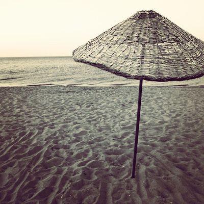 Plaj Kumsal Ayvalik Sarimsakli beach umbrella semsiye sezlong sunbed sea deniz summer yaz blackandwhite siyahbeyaz blackwhite