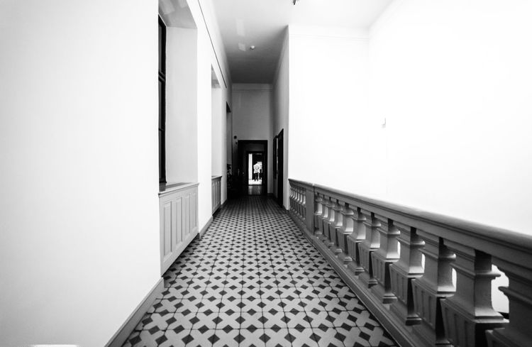 Inside Almásy Castle Gyula, Hungary Lightroom Ilce-7 Sonyalpha Sony 14mm Samyang Full Frame Light And Shadow Monochrome Blackandwhite Indoors  Built Structure Architecture Corridor Day