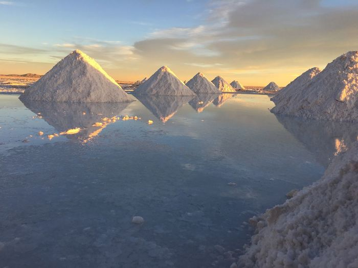 Salary de Uyuni Uyuni Outdoors Traveling Bolivia IPhoneography Travel On A Holiday Water Reflections Reflection Water Salt Nature Sunset