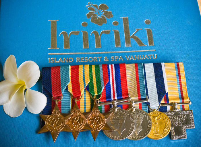 Australian Medals Tobruk Crete ANZAC Day Eighth Army 16th Australian Brigade Group A.I.F. Abundance Blue Collection Creativity In A Row Large Group Of Objects Man Made Object Multi Colored Retail  Siege Of Tobruk Text Variation Vivid International Western Script