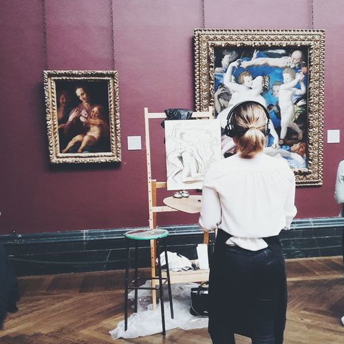 Painter. The Mix Up London National Gallery  Painting Listening To Music Tranquil Scene London Lifestyle
