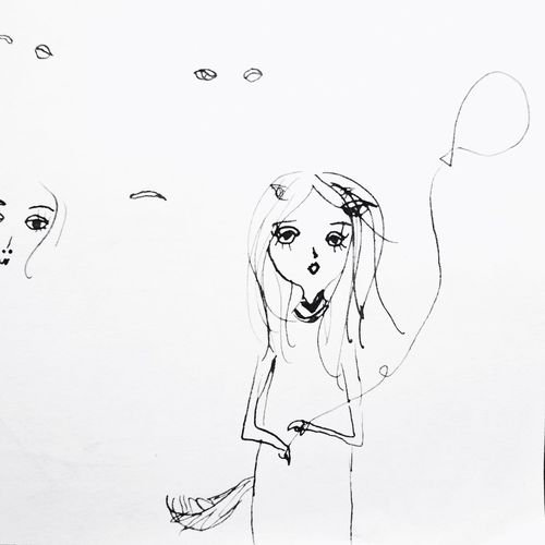 Malika's Drawing Dessin Drawing - Art Product Human Representation Creativity Paper Drawing - Activity Fashion Drawing FreehandDrawing Parisjet'aime Kids Art こどもの絵 Kids Drawings Blackandwhite Malika-doodles Parisienne Art And Craft