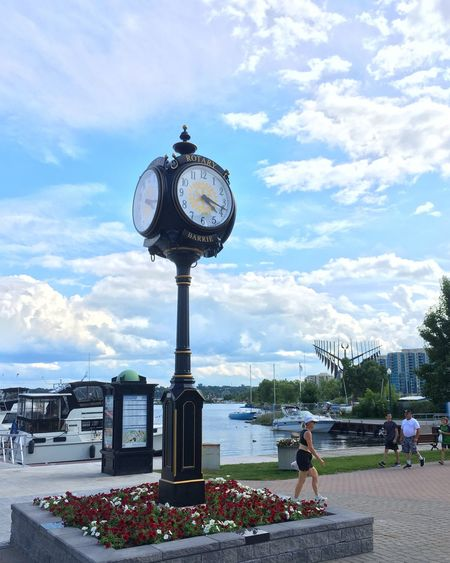 Time Clock Sky Cloud - Sky Day Real People Large Group Of People Women Lifestyles Leisure Activity Built Structure Architecture Outdoors Clock Face Building Exterior Men Water City Minute Hand Nature