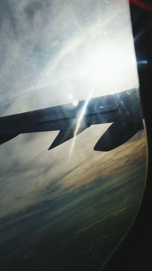 Traveling London Sun Airplane Clouds Sky Shine Beautiful