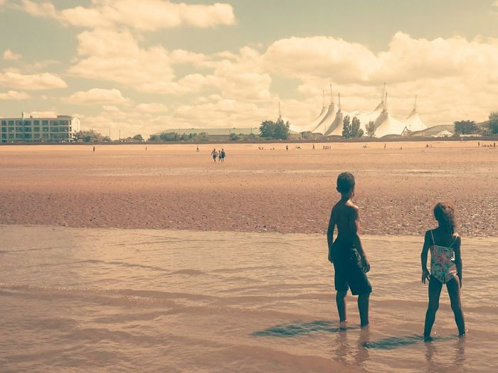 Dystopian Futuristic Restricted Barred Sand Dune Full Length Desert Child Arid Climate Politics And Government Beach Sand Childhood Sea EyeEmNewHere