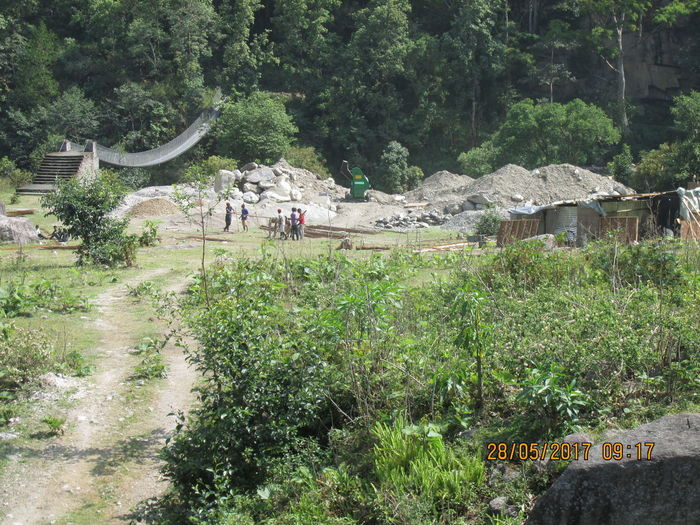 Hydro power Project construction in Nepal Beauty In Nature Development Field Hydro Projects Mega Structure Project Constructin Real People Tree