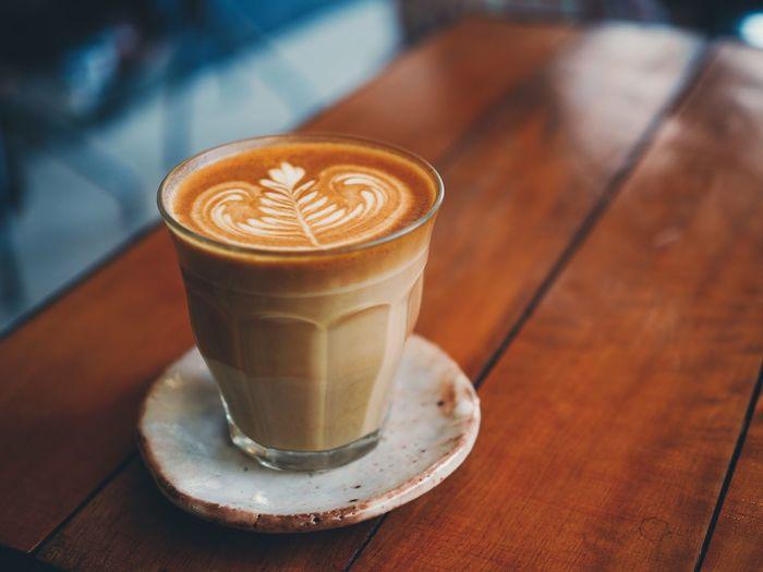 Coffee Drink Latte Art Leaf Milk Morning Cozy Hot Art