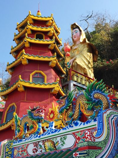 Chinese Culture Architecture Religion Low Angle View Day Built Structure No People Temple Thailand Timeless Dragon Building Exterior Holy Buddhism Chinese Temple EyeEmNewHere