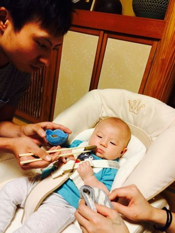 Japanese Style お食い初め Okuizome Eito's 100th Day 生後100日目 100days After Birth 100days Babyboy 景登 Baby Boy