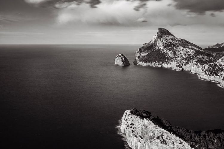Time Mallorca Travel Destinations Exploring Moody Minimalism Longexposure Blackandwhite Water Sea Sky Cloud - Sky Beauty In Nature Scenics - Nature Land Tranquility Horizon Over Water Tranquil Scene Rock Solid Outdoors Nature My Best Photo