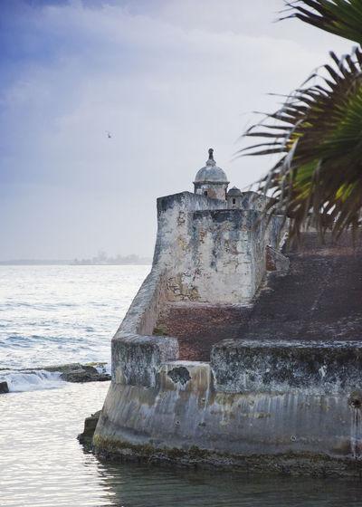 Helicopter Ocean Ocean View Ocean Waves Old Buildings Old Structures San Juan PR Sea And Sky