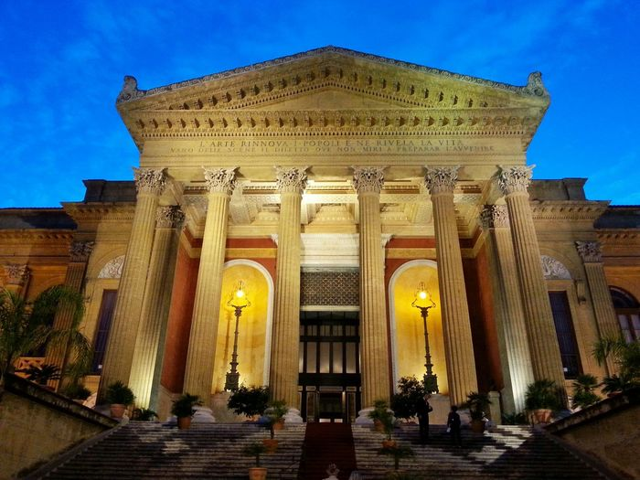 Theatre Palermo Teatro Massimo Theater Main Theater Imponente Theater At Sunset Architecture In Palermo Sicily's Theater Palermo's Theater