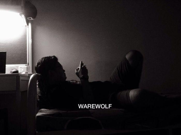 when the night was become WearWolf Night Blackandwhite