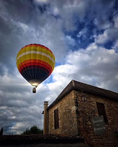 Your Ticket To Europe Low Angle View Flying Hot Air Balloon Beynac-et-Cazenac