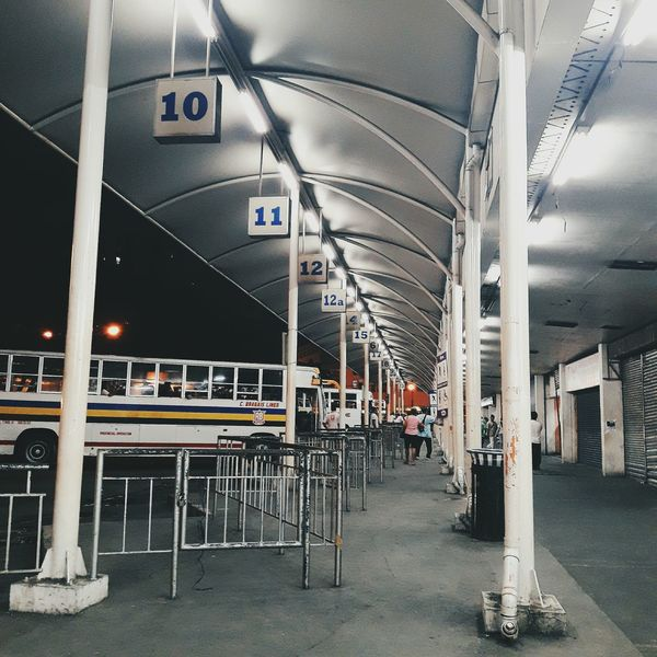 Bus Provincetown  Terminal Station Waiting Area Dark Transportation