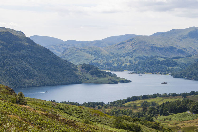 Classic view Lake District Ullswater Beauty In Nature Cloud - Sky Day Environment Lake Landscape Mountain Mountain Range Nature No People Non-urban Scene Outdoors Plant Range Scenics - Nature Sky Tranquil Scene Tranquility Tree Water