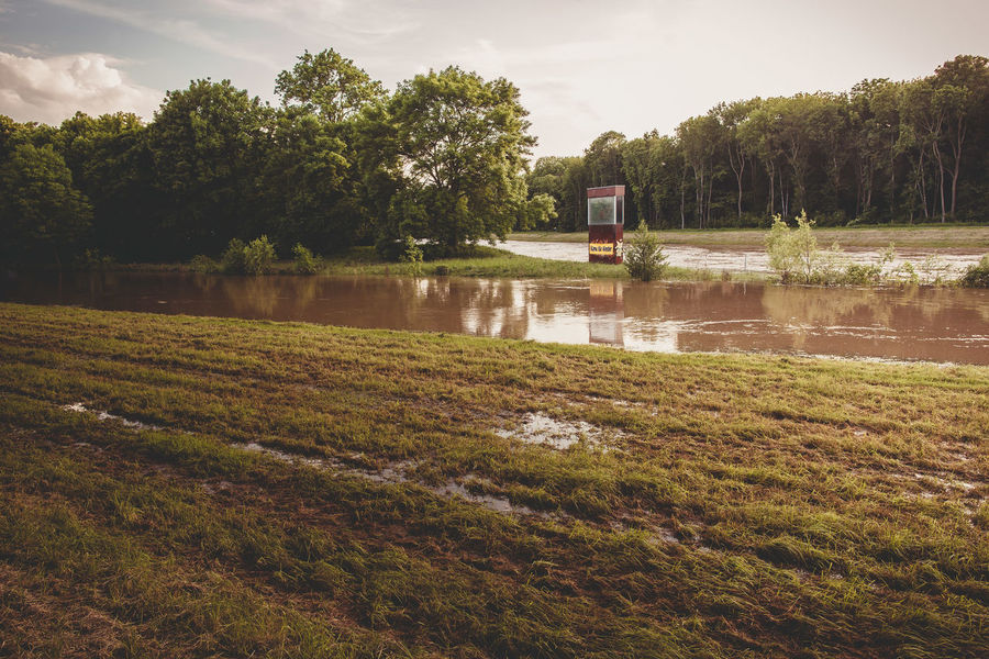 flooding in leipzig, germany High Water Nature Architecture Beauty In Nature Built Structure Day Flood Flooding Grass Growth High Water Level Lake Landscape Nature No People Outdoors Reflection River Scenics Sky Tranquil Scene Tranquility Tree Water