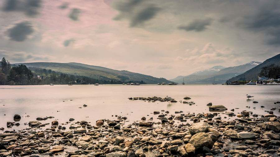 Cloud - Sky Water Sky Mountain Scenics - Nature Beauty In Nature Nature Tranquility Tranquil Scene No People Loch Tay Dalerb Landscape Long Exposure Scotland