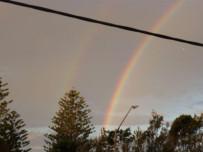 Australia Beauty In Nature Double Luck Double Rainbow Look At This Sky!  Multi Colored Nature Outdoors Port Macquarie