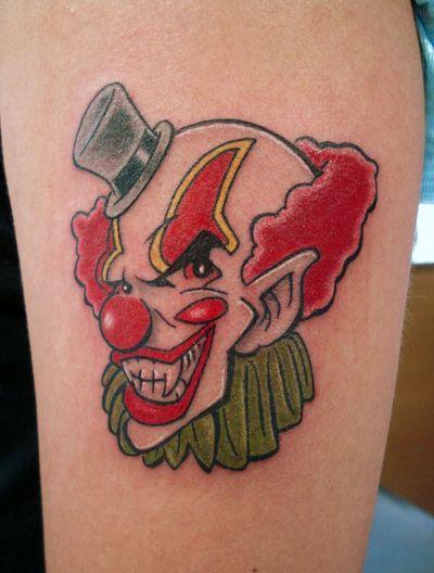También los miedos podemos plasmarlos con tinta, para siempre, en la piel Tattoo Tatuaje Payaso Clown