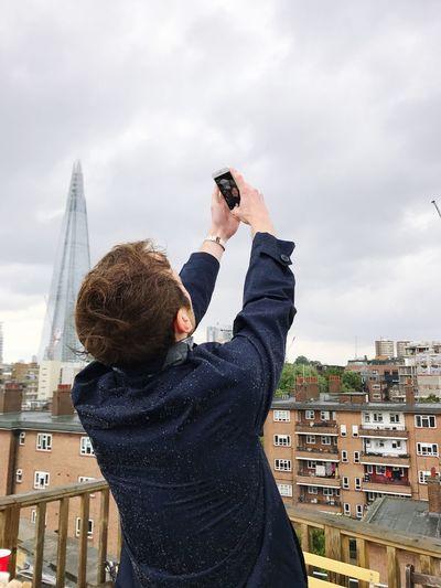 EyeEm Selects Self Portrait Selfie✌ Theshardlondon Rooftop Hipster Men Fashion First Eyeem Photo Rainy Days
