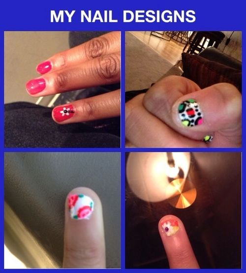 My Nail Designs. And Yes I Did Them Myself.