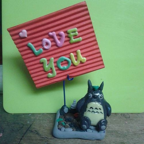 Artsy Totoro Clay ArtPh Memoholder DIY