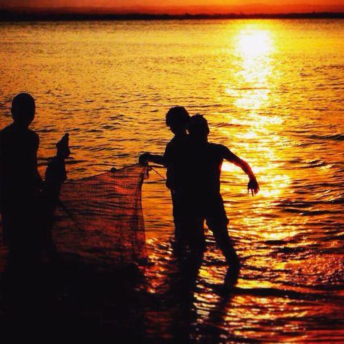Fisherman Sunset Sun Summer Ribeirinhos Pescadores Sol Verão Bahia Brasil
